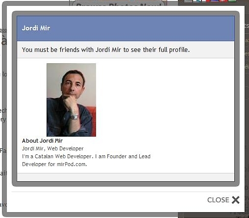 Une box jquery facebook like